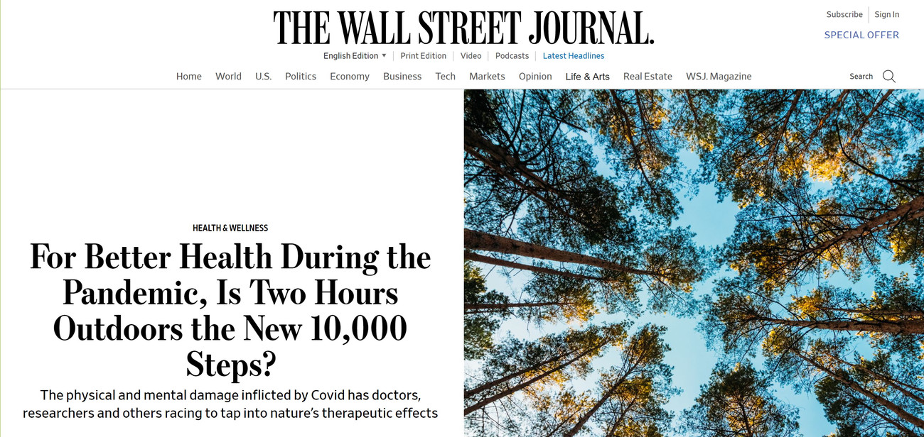 WSJ on Forest Bathing
